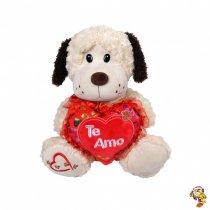 Perro de peluche con corazón 25cm