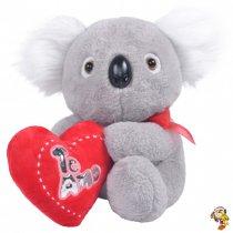 Koala de peluche con corazón 25 cm