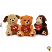 Animales con corazón 22 cm