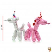 Unicornio de Peluche  fantasía 27 cm parado