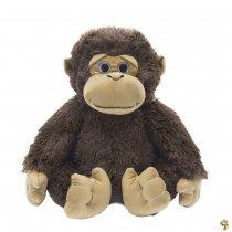 Gorila de peluche 43 cm sentado dos colores