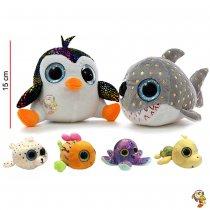 Tiburón y Pingüino de peluche 15 cm