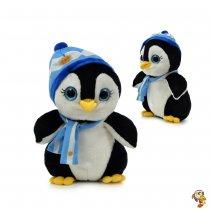 Pinguino de peluche con bufanda 30 cm