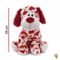 Perro de peluche con corazones 29 cm