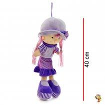 Muñeca de peluche dos colores 40 cm