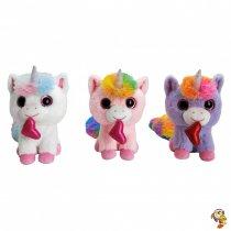 Unicornio de peluche coloridos 25 cm