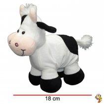 Vaca de peluche con sonajero 18 Cm