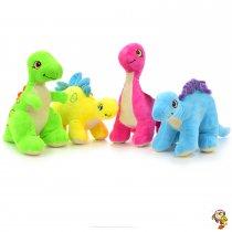 Dinosaurio de peluche varios modelos coloridos 27 cm