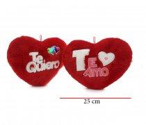 Corazón peluche  25 cm