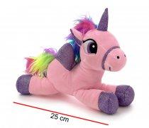 Unicornio de peluche 25 cm 2 colores