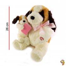 Perro con cría - movimientos gestuales y poema 26 Cm
