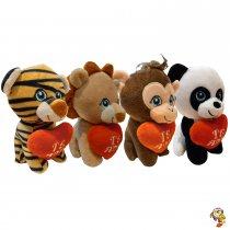 Animalitos de la selva con corazón 15 Cm