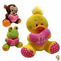 Animalitos con puntillas y corazón 15 Cm