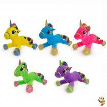 Unicornio de peluche mediano coloridos