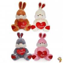 Conejo de peluche grande con corazón